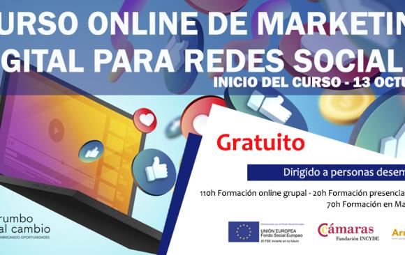 CURSO ONLINE DE MARKETING DIGITAL PARA REDES SOCIALES
