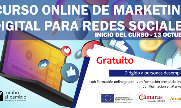 CURSO ONLINE DE MARKETING DIGITAL PARA REDES SOCIALES
