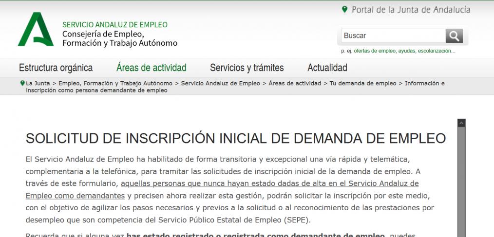 Inscribirte O Reinscribirte Como Demandante De Empleo En El Sae Andalucia Asociacion Arrabal Aid